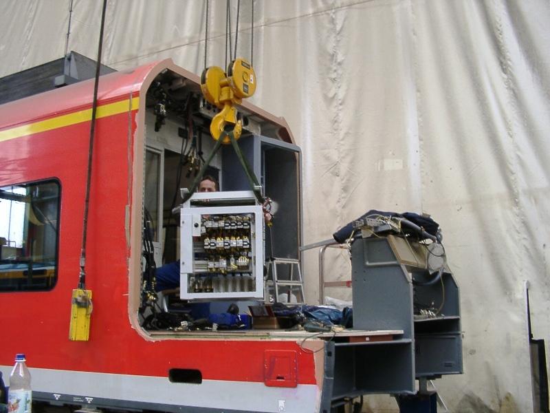 Ausbau Inneneinrichtung Triebwagen ET-425-071