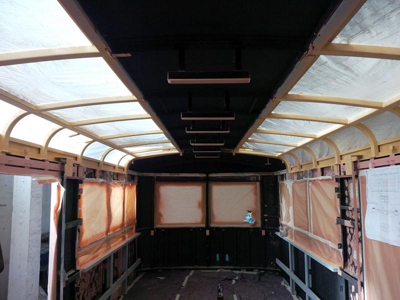 Innenausbau der Schwarztalbahn