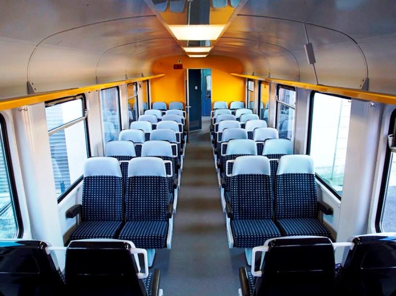 Reisezug Kanada Innenausstattung nach Modernisierung