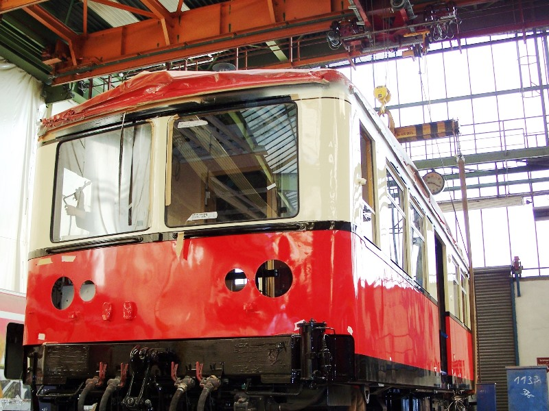 Modernisierung Wagons Oberweißbacher Bergbahn