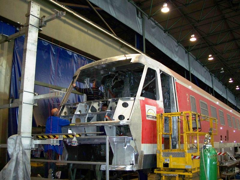 Instandsetzung Unfallschaden Triebwagen VT 611-002