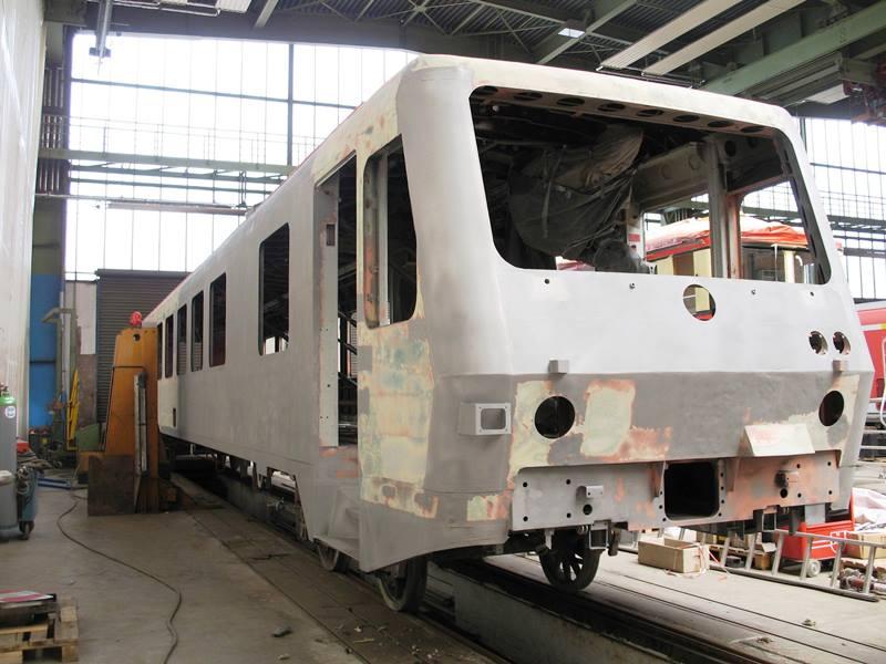 Instandsetzung Unfallschaden Triebwagen VT 628-003